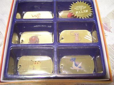 Pokemon  Boxed Set of 6 Collectible Dog Tags NEW AND SEALED Sears