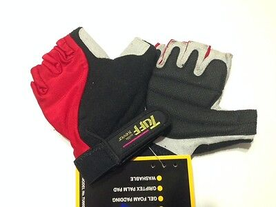 Amara Cycling gloves Men Red Fingerless Rogelli Belcher