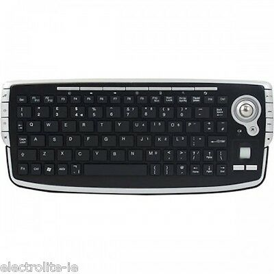 Sumvision Rio 2.4GHz Wireless Mini Multi-Media Keyboard with Built-in Track Ball