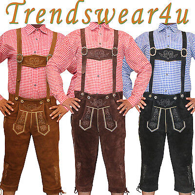 Authentic Kniebund Lederhosen German Bavarian Oktoberfest Trachten Bundhosen
