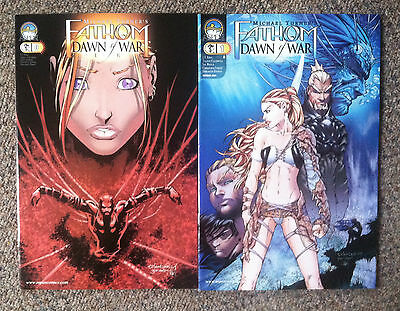 Michael Turner's Fathom Lot of 2 #0 & #1    2004    Aspen Comics
