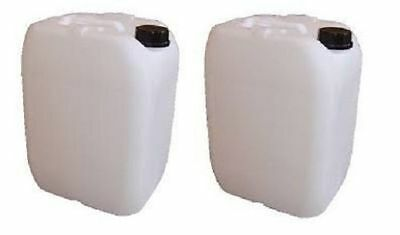 2x25L 25l Used Plastic jerrycans Water Storage Container Petrol jerry Fuel Cans