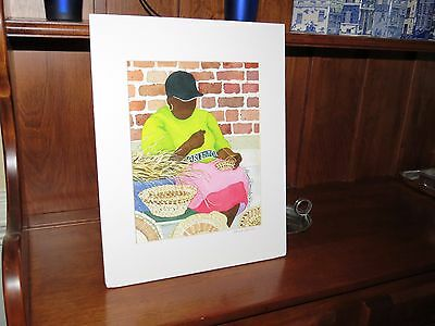 Charleston Weaver By Alaine Daniel Signed and Matted Art Print