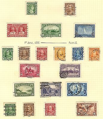 Canada Stamp Collection Inc Used $1 SG 351 On Album Page (Ref: C328)
