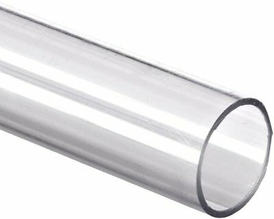 "Poly Carbonate Round Tube 48"" L, 1-7/8"" ID x 2"" OD x 1/16"" Wall Polycarbonate"