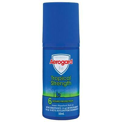 Aerogard Tropical Strength Insect Repellant Repels Roll-on 6hrs protection 50ml