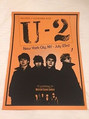 U2 MSG MADISON SQUARE GARDEN POSTER NYC LIMITED EDITION --- Orange Night 4
