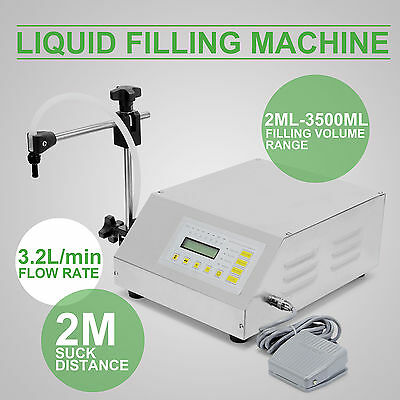 2Ml-3500Ml Digital Control Water Oil Liquid Filling Machine Filler Automatic