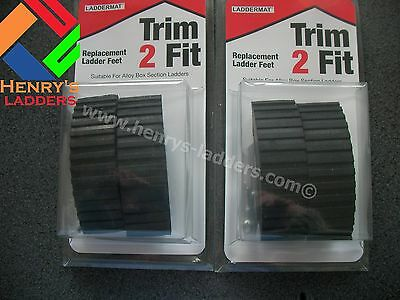 "TRIM 2 FIT Replacement Ladder Feet - Set of 2 Packs - ""I"" Beam or Box Section"