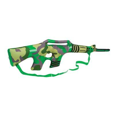 """36"""" Inflatable Blow Up Camouflage Fancy Dress Rifle Gun With Strap - Novelty Toy"""
