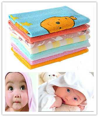 8Pcs Baby Infant Newborn Soft Bath Towel Washcloth Bathing Feeding Wipe Cloth