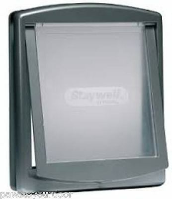 Staywell Petsafe 2 way locking medium dog pet door cat flap silver catflap 757