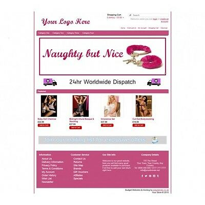 Adult Ecommerce Website Business, Shopping Cart.