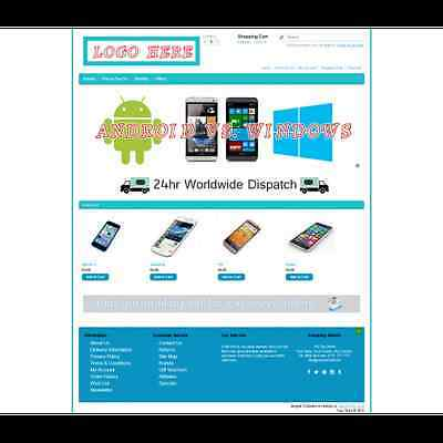 Ecommerce Phone Store Website Business, Shopping Cart 12 months Hosting & Domain