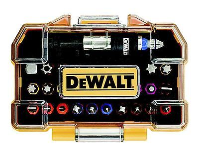 Dewalt Dt7969 Screwdriver Bit Set 32 Piece Impact Colour Coded With Bit Holder
