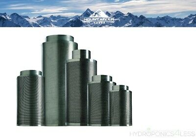 """MountainAir Carbon Fan Air Filter Hydroponics Odour Removal 4"""" 5"""" 6"""" 8"""" 10"""" 12"""""""