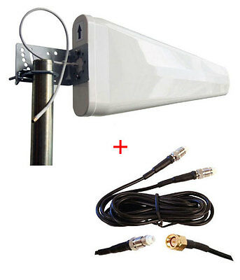 Netgear MBR1515 MBR 1515 N300 4G LTE Router Wide Band Log Periodic Yagi Antenna