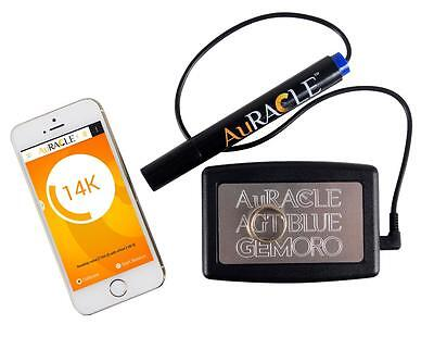 Auracle AGT Blue Mobile Tester for Gold and Platinum by GemOro, Compact Sized