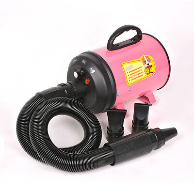 220V 2800W Portable Dog Cat Pet Grooming Hair Dryer Pet Hairdryer Machine Pink