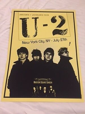 U2 Msg Madison Square Garden Poster Nyc Limited Edition --- Yellow Night #6