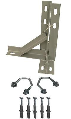 "12"" T&K Bracket PAINTED For TV Aerial + 5x mungo fixing bolts & 2x V bolts"