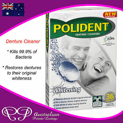 Polident - Denture Cleaner / Cleanser Sterident Whitening whiten false teeth 36x