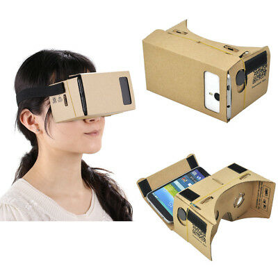 DIY Cardboard 3D VR Phone Virtual Reality für Google/Android/ iPhone + Kopfband