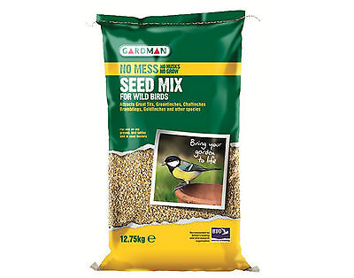 Gardman Wild Bird No Mess Seed Mix 12.75kg For All Wild Birds