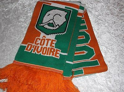 Côte d'Ivoire Ivory Coast Scarf Football Soccer In Good Condition