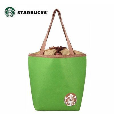 [Starbucks Coffee] Insulated Canvas Tote Lunch Pouch~ 29x21x12.5 cm