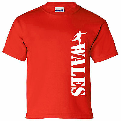 England Vertical Kids T Shirt 6 Nations World Cup England Wales RUGBY SIX BOYS