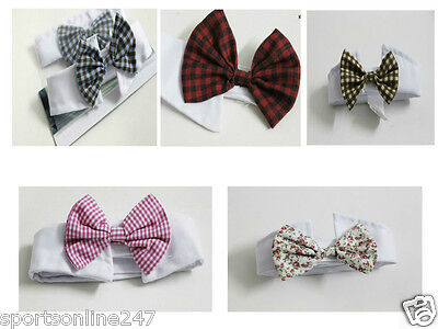 new  Velcro Adjustable Bow Tie Collar Dickie Necktie Bowknot For Pet Dog Cat