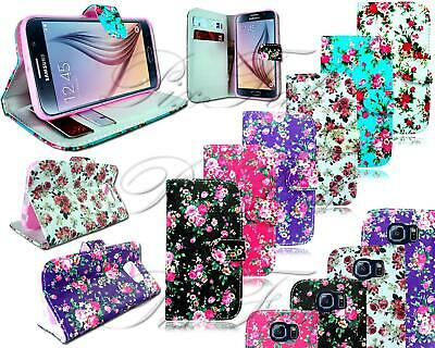 Flower Book Wallet Phone Case For Samsung Galaxy S6 Sm-G920F & S6 Edge Sm