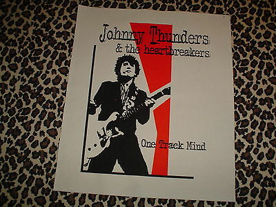 Johnny Thunders & The Heartbreakers 'one Track Mind' Back Patch New York Dolls
