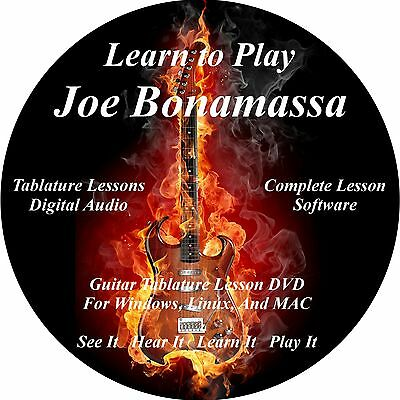 Joe Bonamassa Guitar TABS Lesson CD 76 Songs + Backing Track + BONUS!