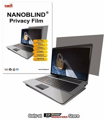 """NANOBLIND Privacy Screen Film Filter LCD Laptop Notebook 12"""" ~ 16"""" / Size Check"""