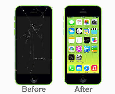 Apple iPhone 5c Broken Screen Repair Service (LCD Glass Digitizer Replacement)
