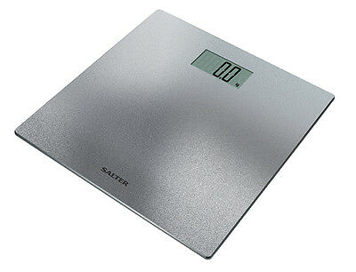 Salter Silver Glitter Electronic Digital Bathroom Weight Scales 9046 SVGL3R
