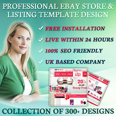 Professional eBay Store, Auction Mobile Responsive Template Live Within 24 Hours