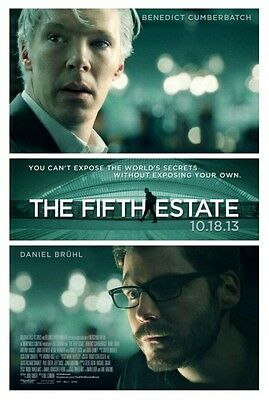 FIFTH ESTATE - 2013 - original D/S 27x40 movie poster - BENEDICT CUMBERBATCH