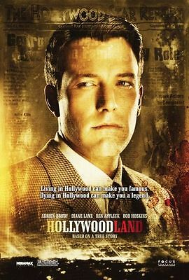 HOLLYWOODLAND - 2006 - original 2-sided 27x40 movie poster - BEN AFFLECK style