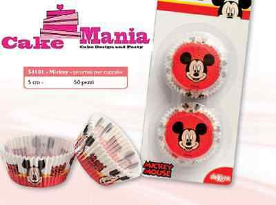 50 Pirottini Topolino Disney Cupcake Muffin In Carta Da Forno Mickey Mouse Cake