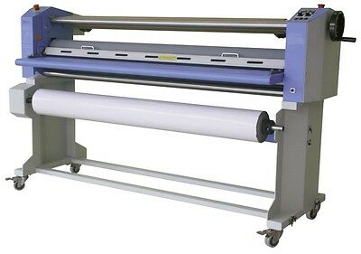 "GFP 563TH-3 63"" Top Heat Laminator w/ Swing Shafts & Stand"