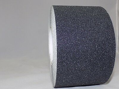 "4"" x 60FT BLACK ROLL SAFETY NON SKID TAPE ANTI SLIP TAPE STICKER GRIP SAFE GRIT"