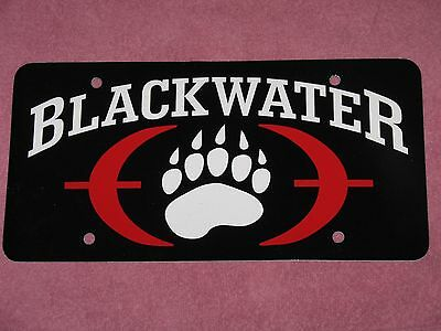 BLACKWATER USA SECURITY PAW LOGO License Plate Private Military Tactical IRAQ