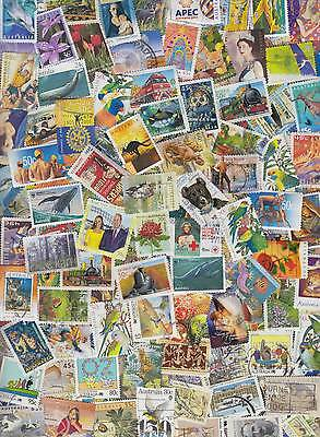 200 Different Australian stamps including recent