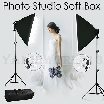 2750W Photography Studio Softbox Lighting Photo Video Soft Box Light Stand Kit
