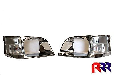 New Corner Light Clear Lens + Chrome Rim Toyota Hiace Rzh 8/98-2/05- Pair