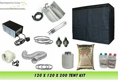 "Grow Tent 120 & Grow Light 600w & 4"" Fan Kit & COCO complete set up kit"