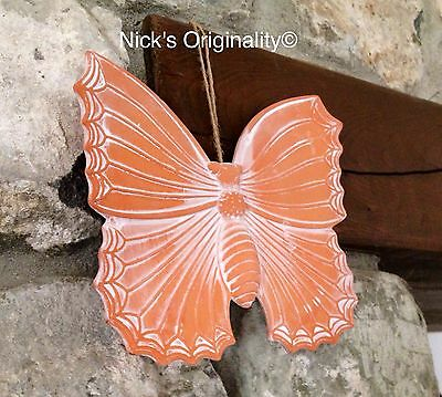 Beautiful Terracotta Butterfly Wall Plaque Home Or Garden Ornament